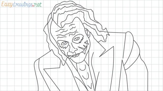 grid line Joker drawing