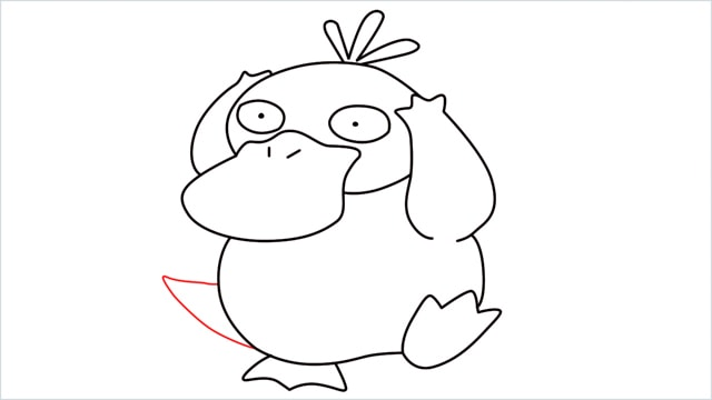 how to draw Psyduck step (10)