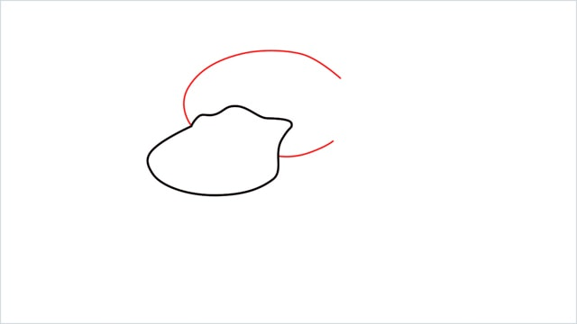 how to draw Psyduck step (2)