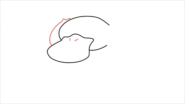 how to draw Psyduck step (3)