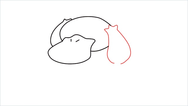 how to draw Psyduck step (4)
