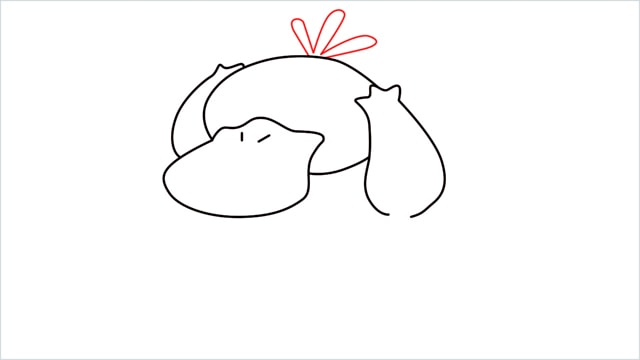 how to draw Psyduck step (5)