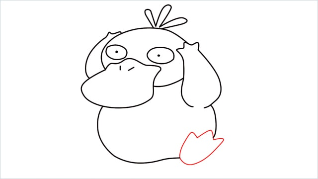how to draw Psyduck step (8)