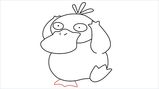 how to draw Psyduck step (9)