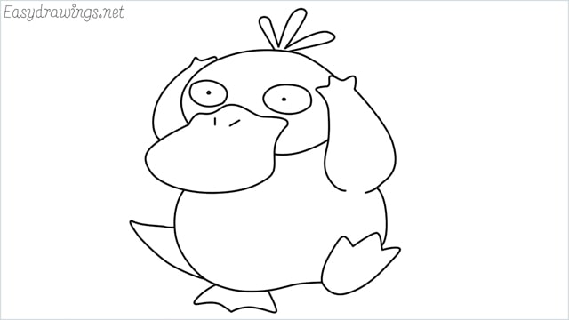 how to draw Psyduck step by step
