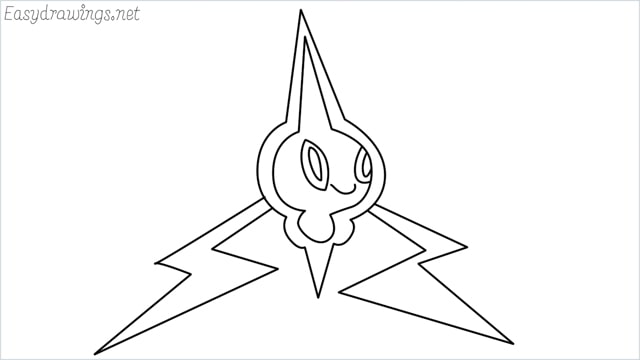 how to draw Rotom step by step
