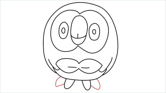 how to draw Rowlet step (10)