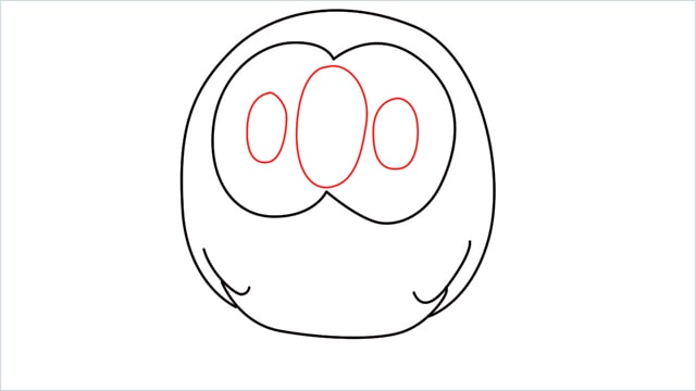 how to draw Rowlet step (5)