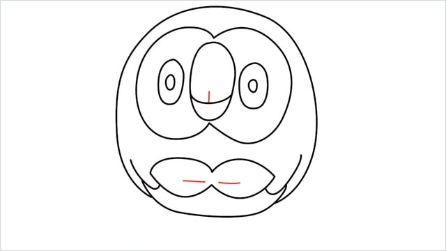 how to draw Rowlet step (8)