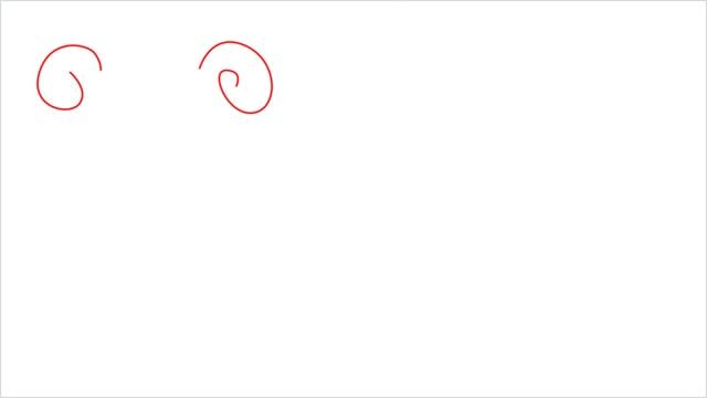 how to draw Slowpoke step (1)
