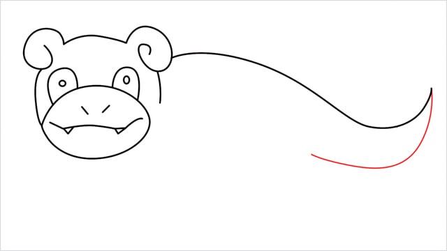 how to draw Slowpoke step (10)