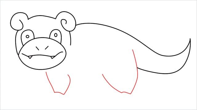 how to draw Slowpoke step (11)