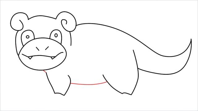 how to draw Slowpoke step (12)