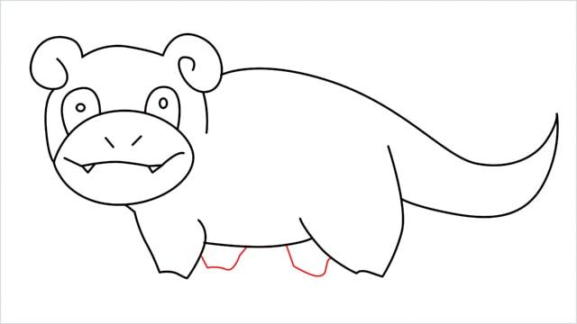 how to draw Slowpoke step (13)