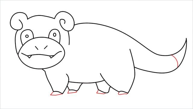 how to draw Slowpoke step (14)