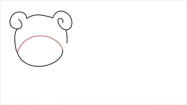how to draw Slowpoke step (4)