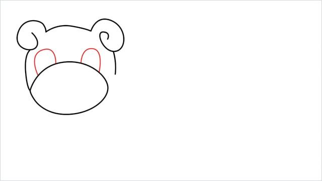 how to draw Slowpoke step (5)