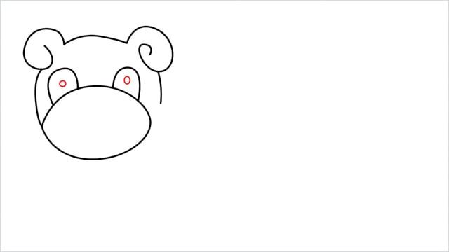 how to draw Slowpoke step (6)