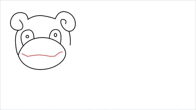how to draw Slowpoke step (7)