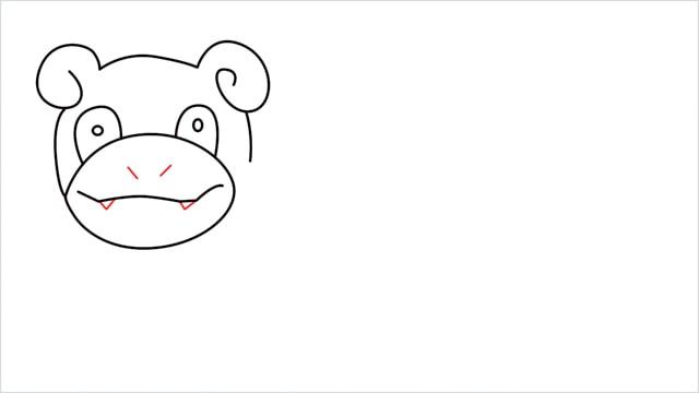 how to draw Slowpoke step (8)