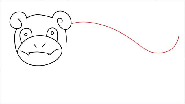 how to draw Slowpoke step (9)