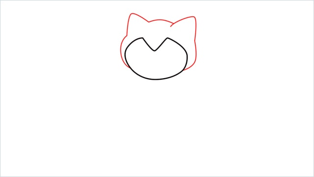 how to draw Snorlax step (2)