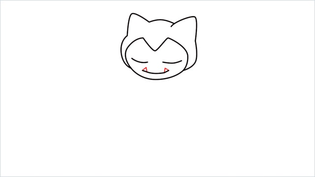 how to draw Snorlax step (4)