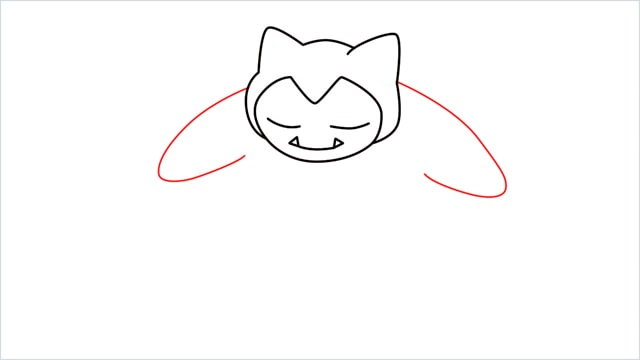 how to draw Snorlax step (5)