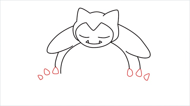 how to draw Snorlax step (7)