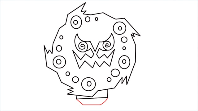 how to draw Spiritomb step (10)