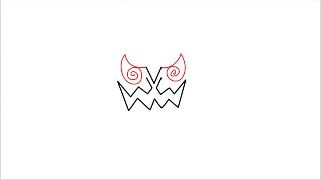 how to draw Spiritomb step (3)