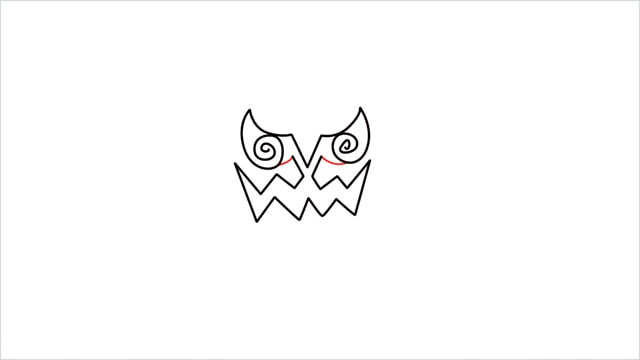 how to draw Spiritomb step (4)