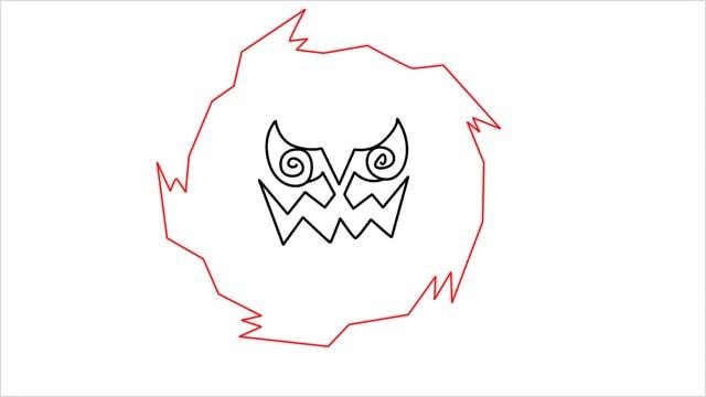 how to draw Spiritomb step (5)
