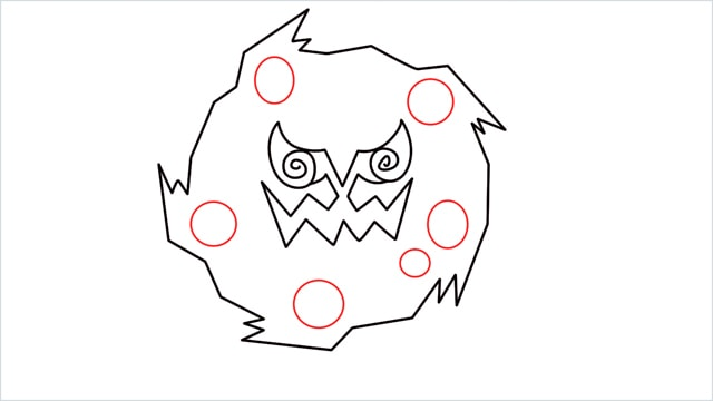 how to draw Spiritomb step (6)