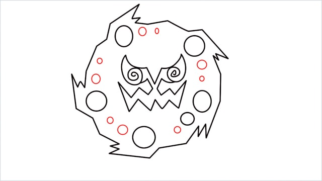 how to draw Spiritomb step (7)