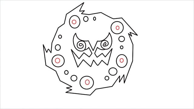 how to draw Spiritomb step (8)