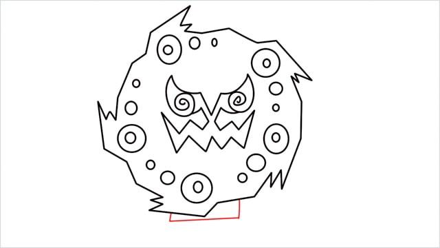 how to draw Spiritomb step (9)
