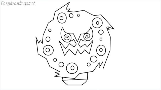 how to draw Spiritomb step by step