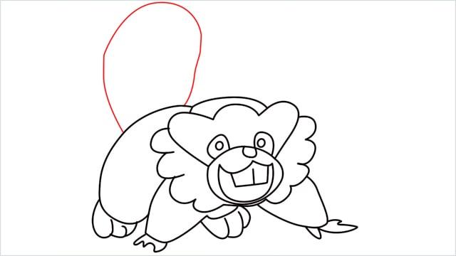 how to draw a Bibarel step (11)