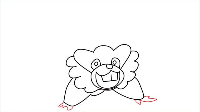 how to draw a Bibarel step (8)