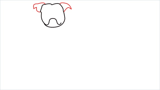 how to draw a Bulldog step (4)