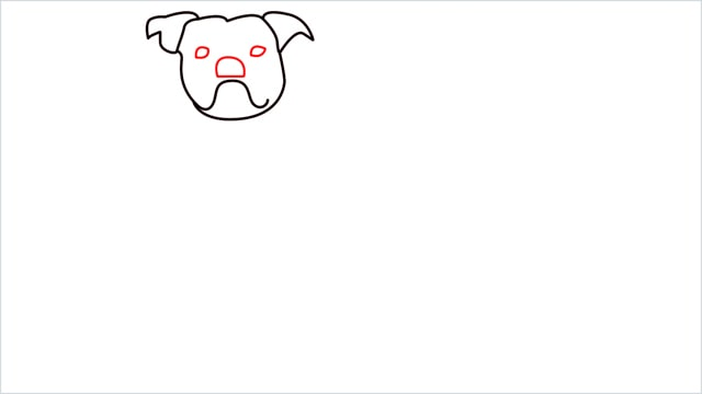 how to draw a Bulldog step (5)