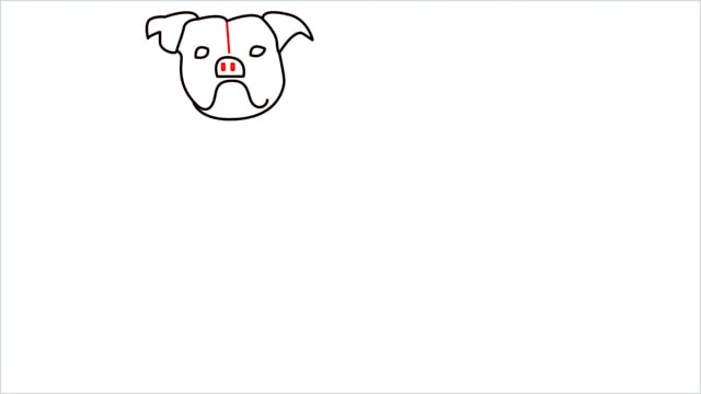 how to draw a Bulldog step (6)