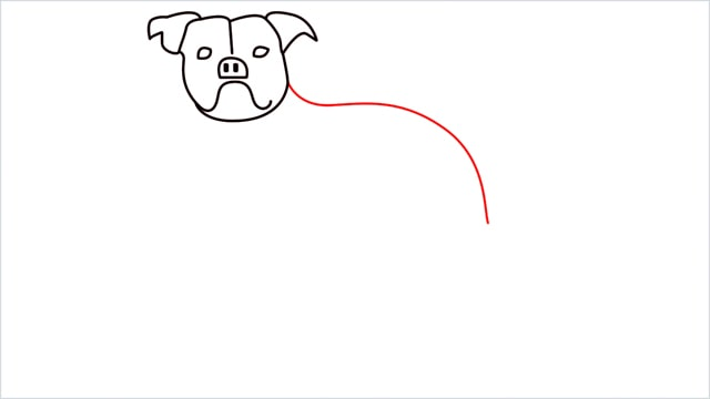 how to draw a Bulldog step (7)