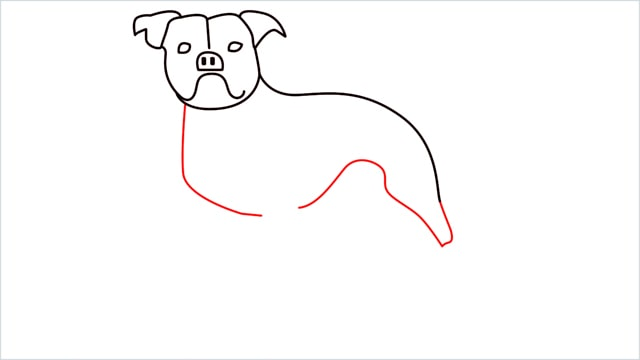 how to draw a Bulldog step (8)