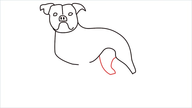how to draw a Bulldog step (9)
