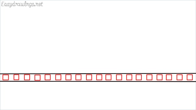 how to draw a Bus stop step (2)
