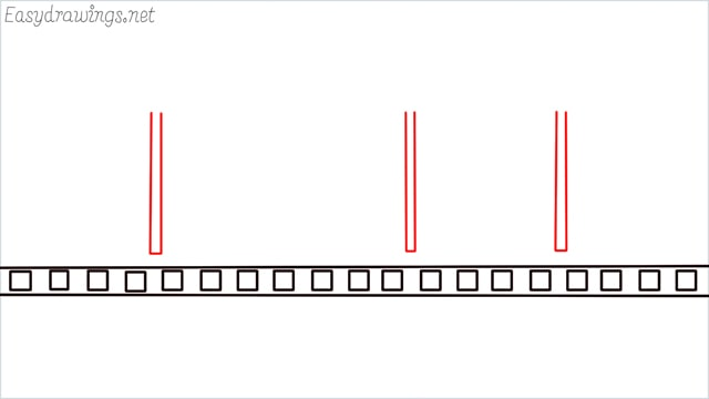 how to draw a Bus stop step (3)