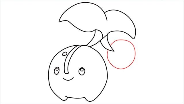 how to draw a Cherubi step (10)