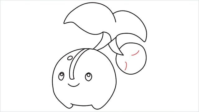 how to draw a Cherubi step (11)